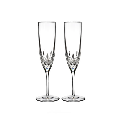 Waterford Crystal Lismore Encore Flute Pair