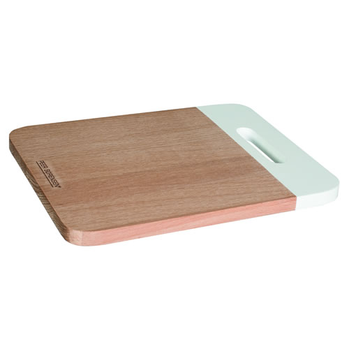 Beech Wood Rectangle Serving Board with White Handle