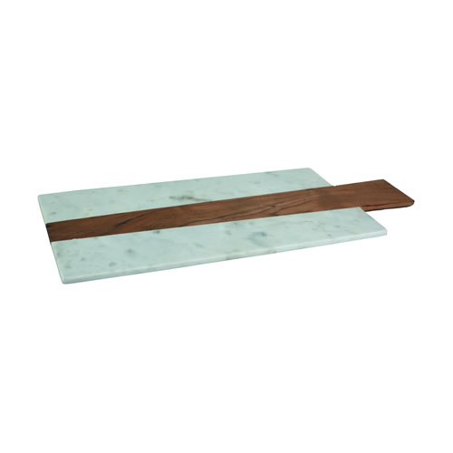 Marble Acacia Wood Rectangular Paddle Serving Board