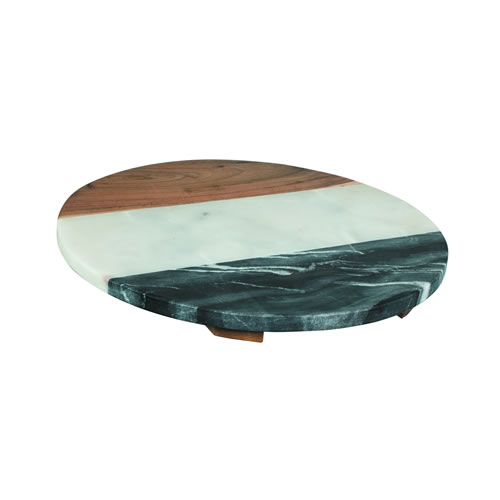 Round Footed Cheese Board