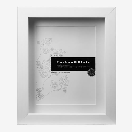 Box Frame 10x8 in White