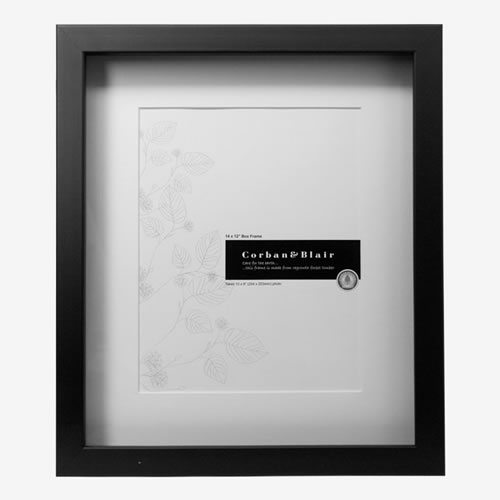 Box Photo Frame 14x12 in Black