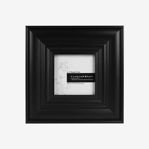 Beauty Photo Frame 4 x 4 in Black