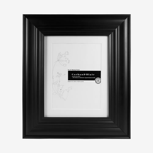 Beauty Photo Frame 10 x 8 in Black
