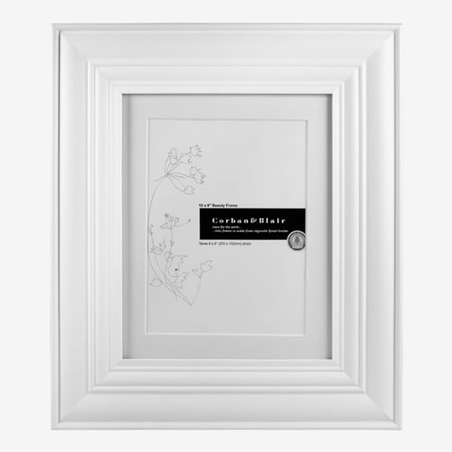 Beauty Photo Frame 10 x 8 in White