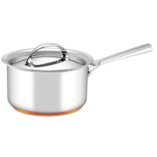 Per Vita Covered Saucepan with Copper Base 18cm 2.8L