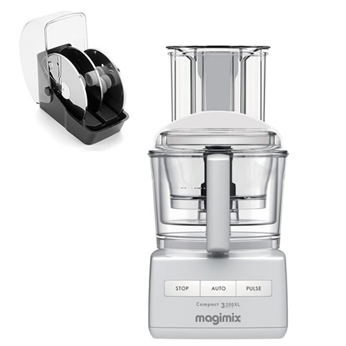 Magimix 3200XL White with Bonus 3 Disc Set Valued at $229