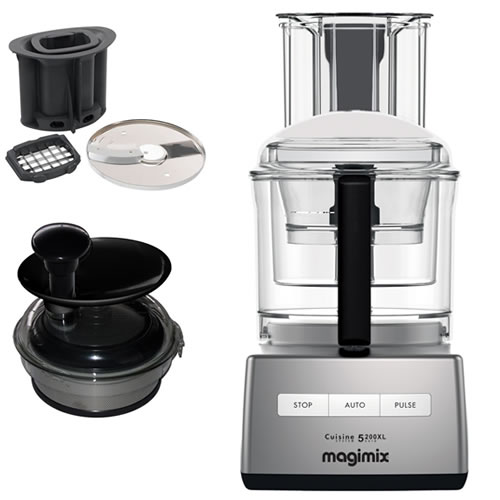 Magimix 5200XL Chrome with Bonus juice extractor valued at $249