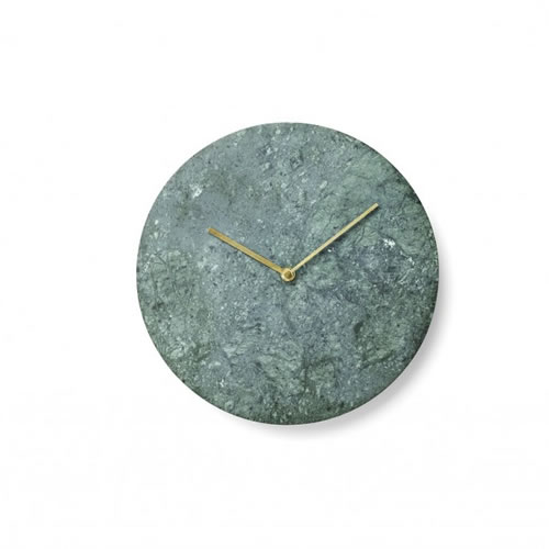 Marble Wall Clock in Green