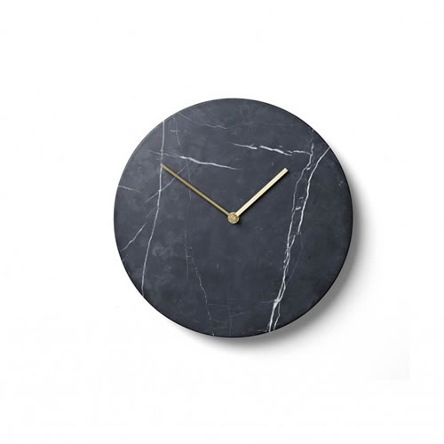 Marble Wall Clock in Black