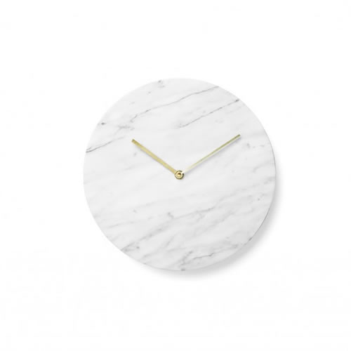Marble Wall Clock in White