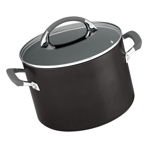Anolon Endurance 24cm 7.6L Stockpot with Pasta Insert