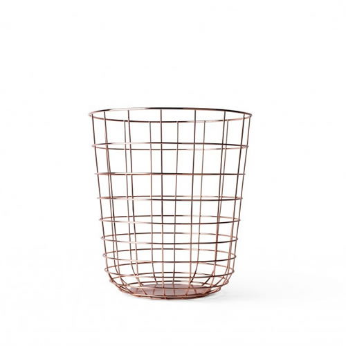 Wire Bin in Copper