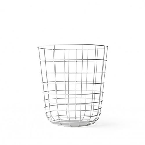 Menu Wire Bin in White