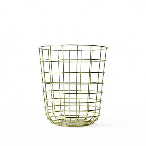 Wire Bin in Brass