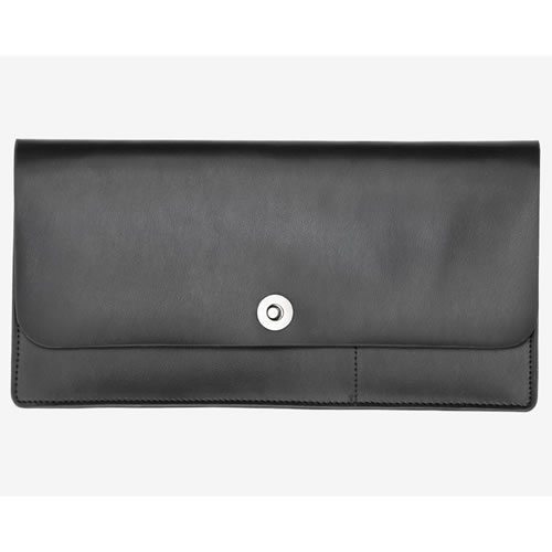 Basics Collection Travel Wallet in Black Leather
