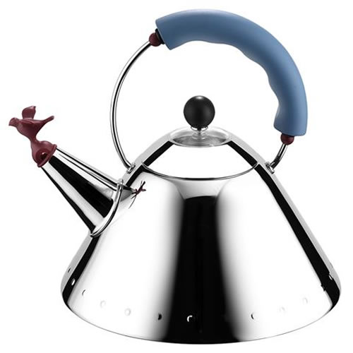 Whistling Bird Kettle with Blue Handle