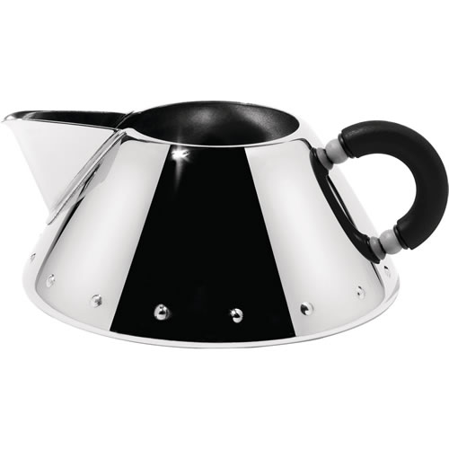 Creamer in Chrome with Black Handle