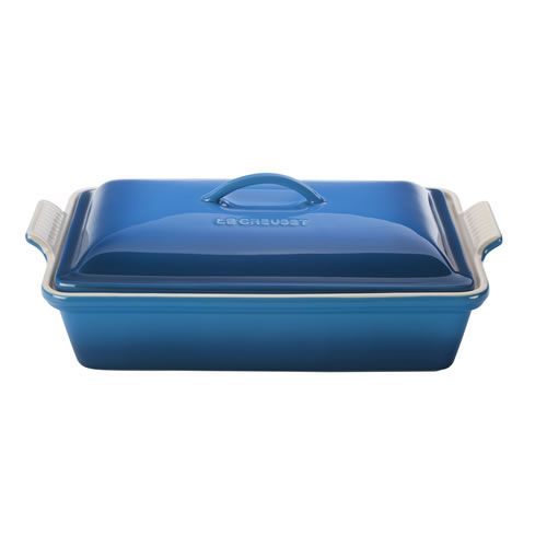 Marseille Blue Heritage Covered Rectangular Dish 33cm