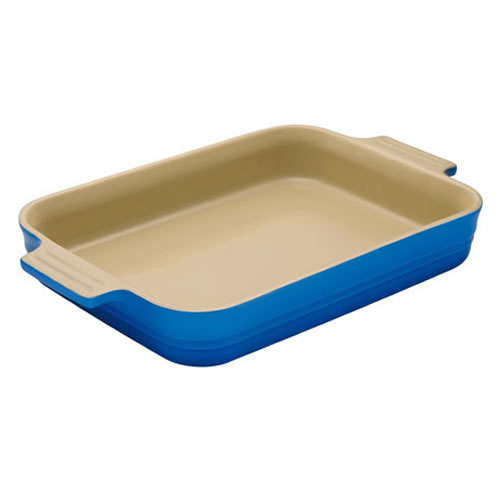 Marseille Blue Shallow Rectangular Dish 18cm