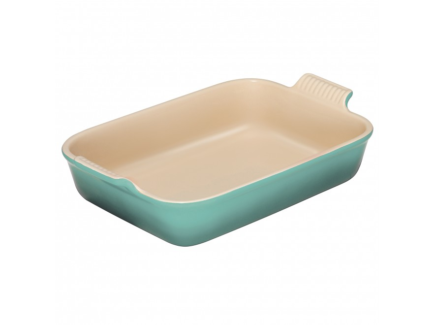 Stoneware Deep Rectangle Dish 32cm in Cool Mint