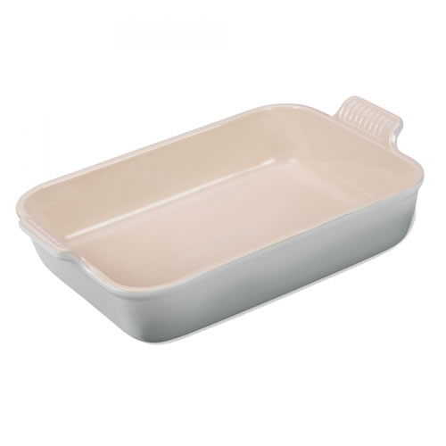 Mist Grey Heritage Deep Rectangular Dish 32cm