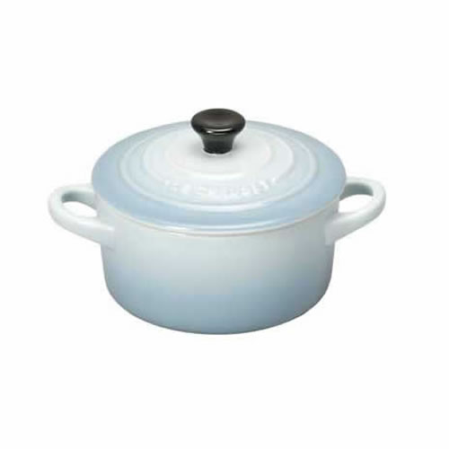 Stoneware Mini Round Casserole in Coastal Blue