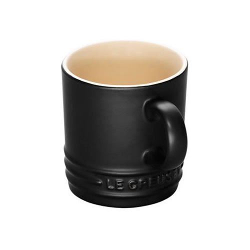 Satin Black Espresso Mug Set