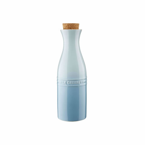 Stoneware Carafe 750ML with Cork in Coastal Blue