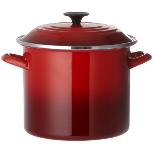 Cerise Enamel on Steel Stockpot 22cm 7.6L