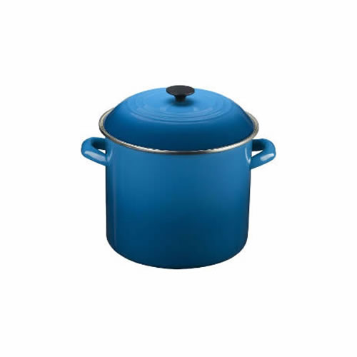 Marseille Blue Enamel on Steel Stockpot 22cm 7.6L