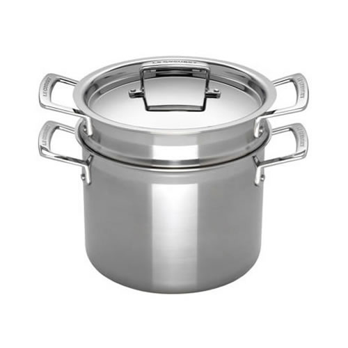 3-ply Stainless Steel Pasta Pot with insert 24