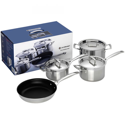 3-ply Stainless Steel 4 Piece Set