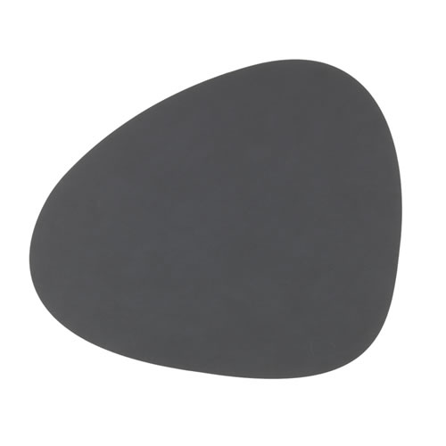 LIND DNA Table Mat Anthracite Curve L