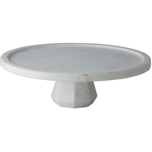Geo Marble Footed Cake Stand