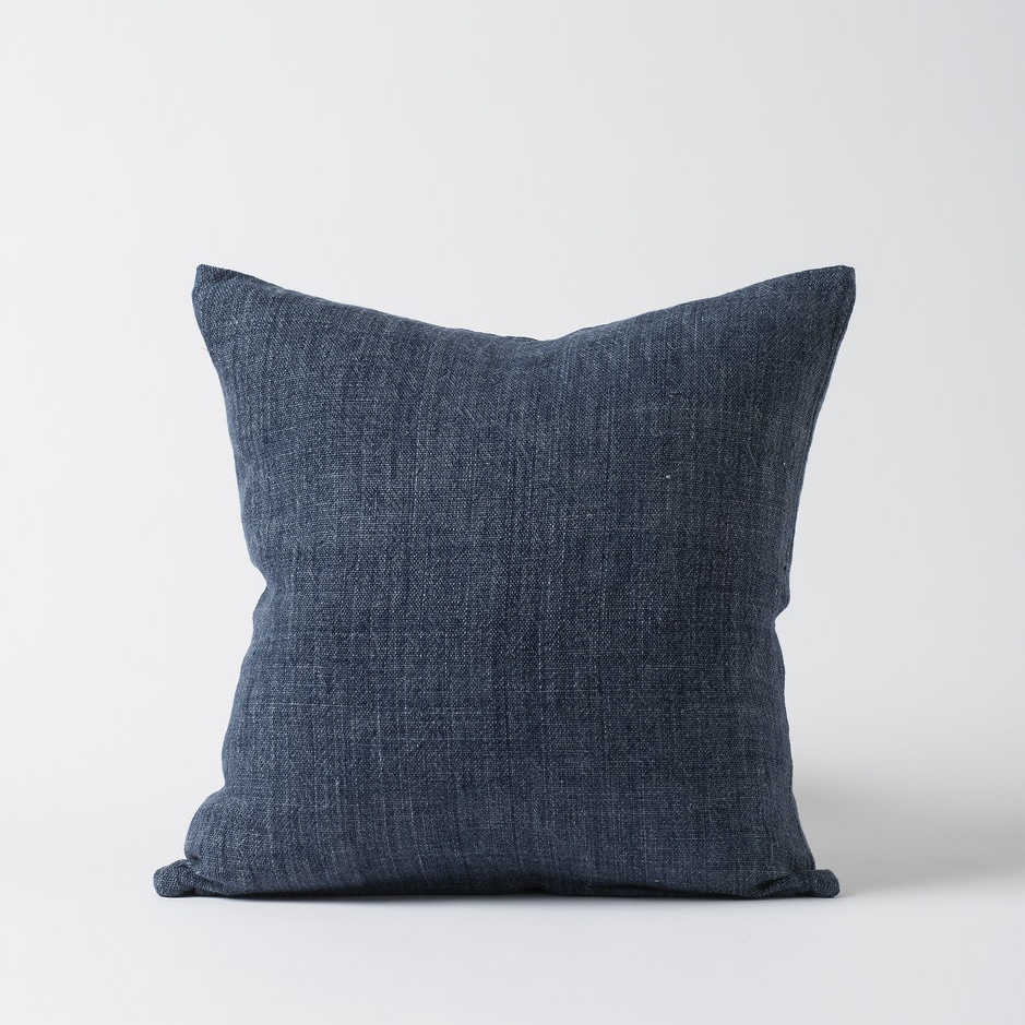 Heavy Linen Cushion Cover Indigo