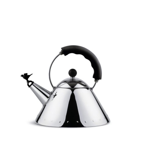 Graves Whistling Bird Kettle with Black Handle