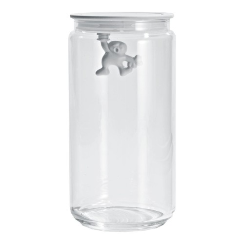 Gianni Glass Storage Jar with White Lid - Medium 900ml