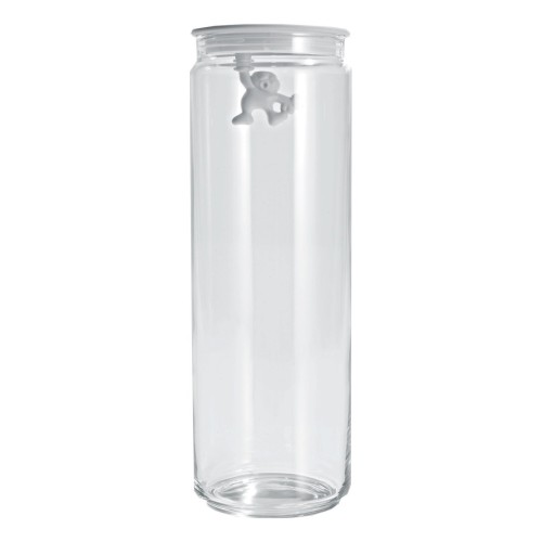 Gianni Glass Storage Jar with White Lid - Large 1.4L