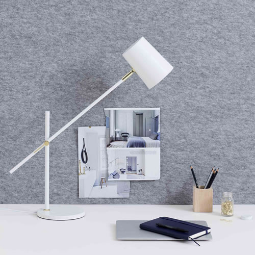 Austin Table Lamp in White