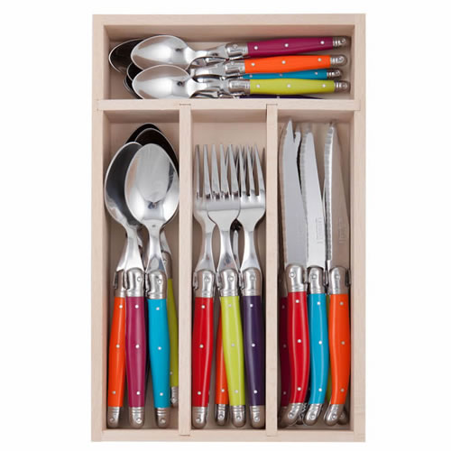 Debutant 24 Piece Wildflower Cutlery Set