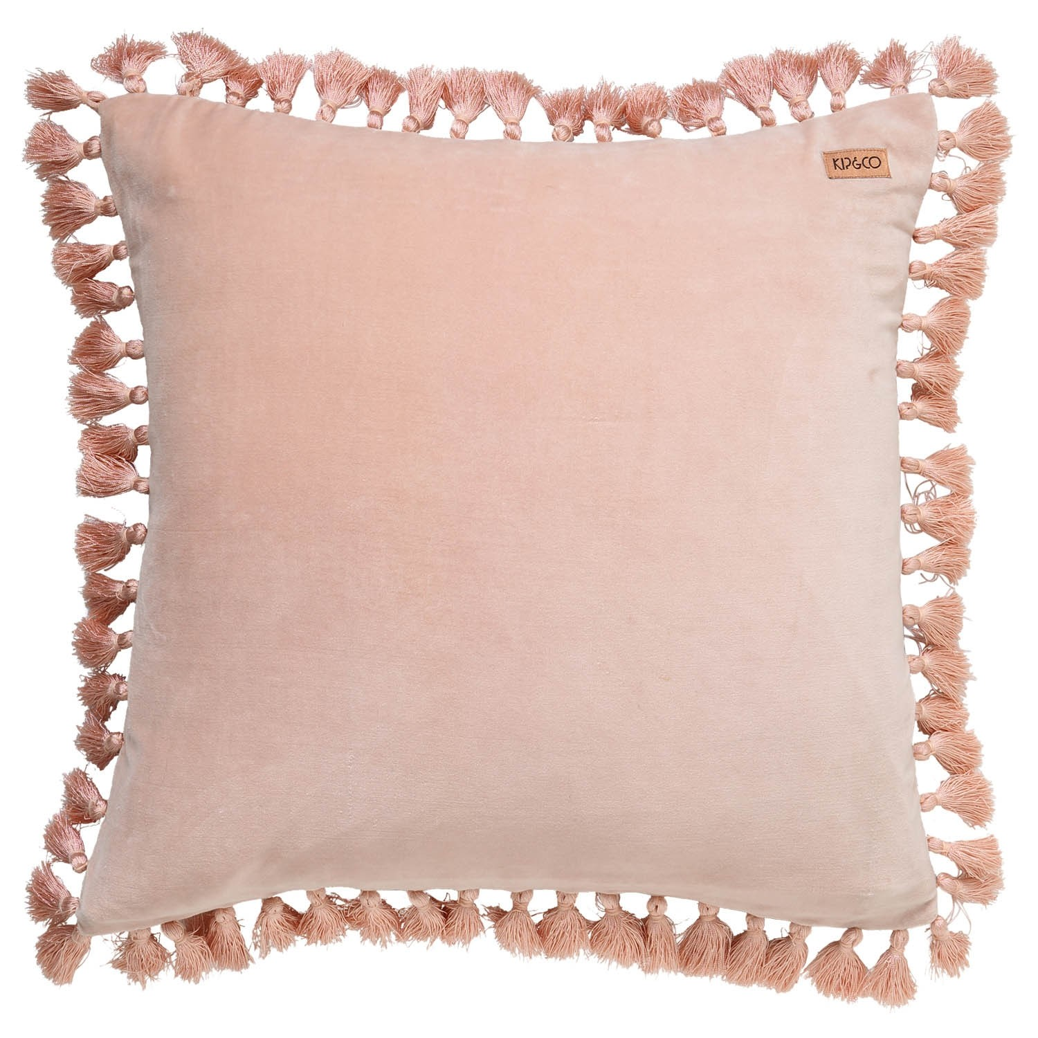 Spanish Villa Pink Velvet Tassel Cushion Cover