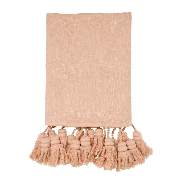 Pink Nectar Tassel Throw