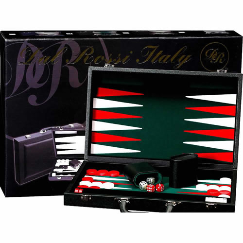 "Backgammon Del Rossi 15"" in Black"