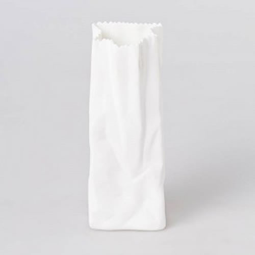 Bone China Paper Bag Vase in Medium 12cm