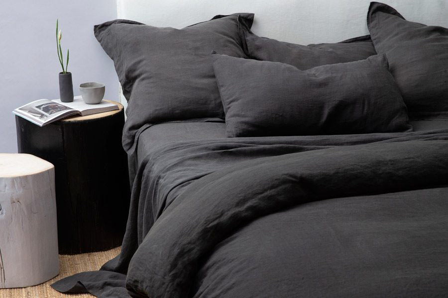 Coal Tailored Pillowcase Pair