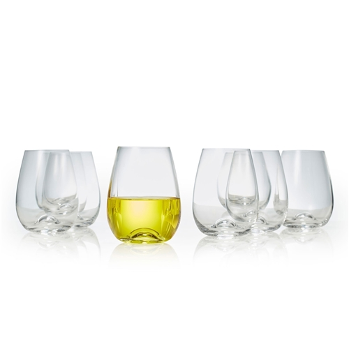 POLO Set of Eight Stemless Wine Glasses