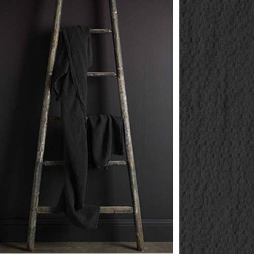 Jacquard Linen Bath Towel Charcoal