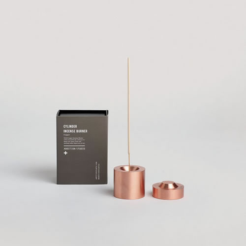 Cylinder Incense Burner Copper