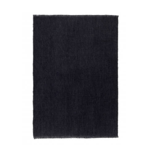 Alpaca Coal Throw Rug 122x 183cm